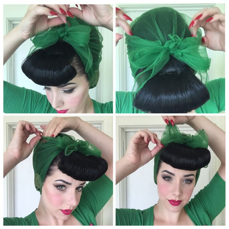 How To Tie A Vintage Hairscarf Retro Hairstyles Hair