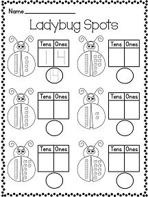 Fun place value worksheets and centers