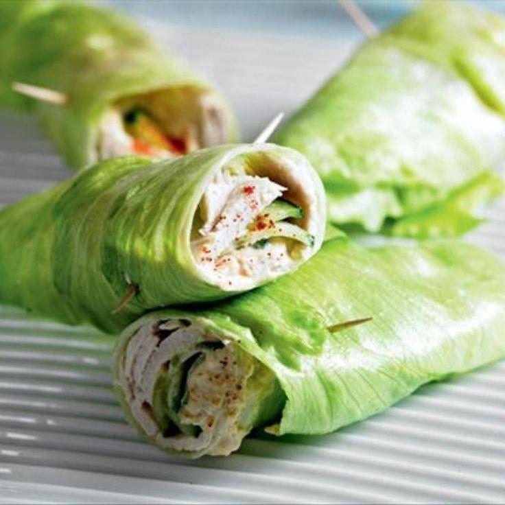 Healthy Turkey & Cucumber Lettuce Wrap http://www.justapinch.com/recipes/main-course/turkey/healthy-turkey-cucumber-lettuce-wrap.html