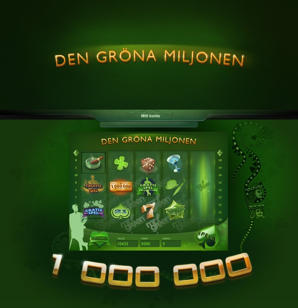 The Green Million - Mr Green by Kristian Sörefelt, via Behance