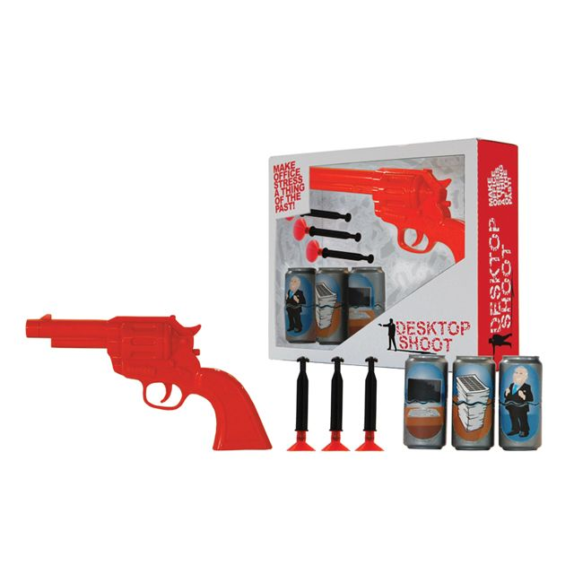 Make office stress a thing of the past with Desktop Can Shoot! #Shoot #Dart #Office #target