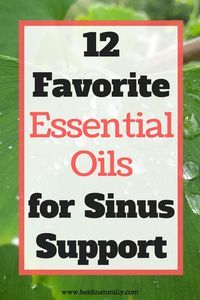 Find out which essential oils to use for sinus support. Learn which oils are best and how to use them to their fullest potential. via @heidinaturally