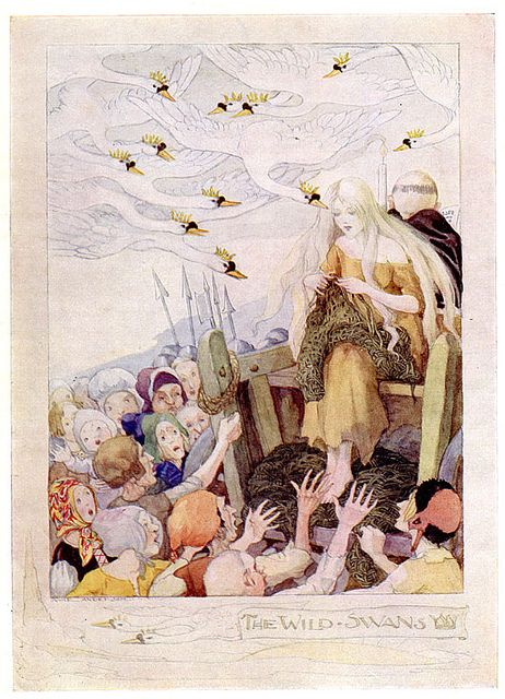 The Wild Swans -- Anne Anderson -- Fairytale Illustration