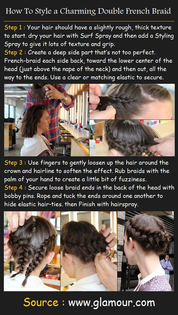 How To Style a Charming Double French Braid | Pinterest Tutorials