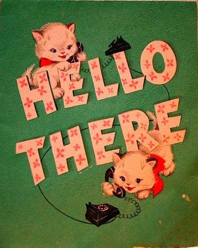 vintage greeting card circa 1930s