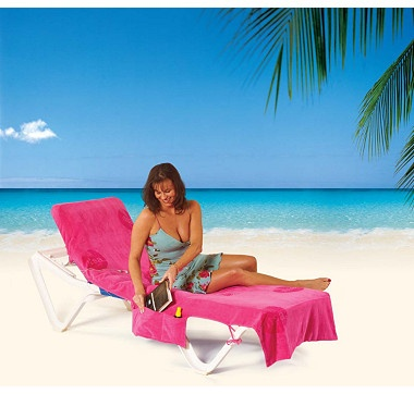 It's a sun lounger towel that converts to a beach bag! Perfect for those days at the beach, or even lounging by the pool, this towel/beach bag is a great gift item for yourself or for a friend!