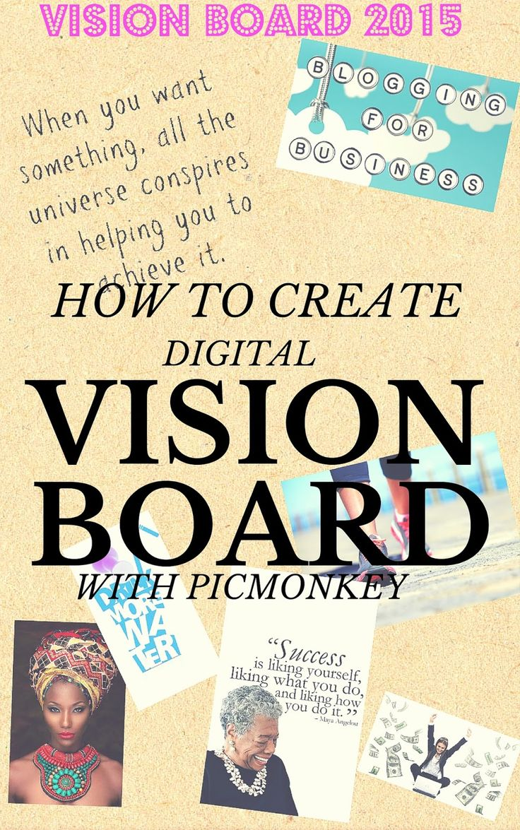 How to Create a Digital Vision Board with PicMonkey