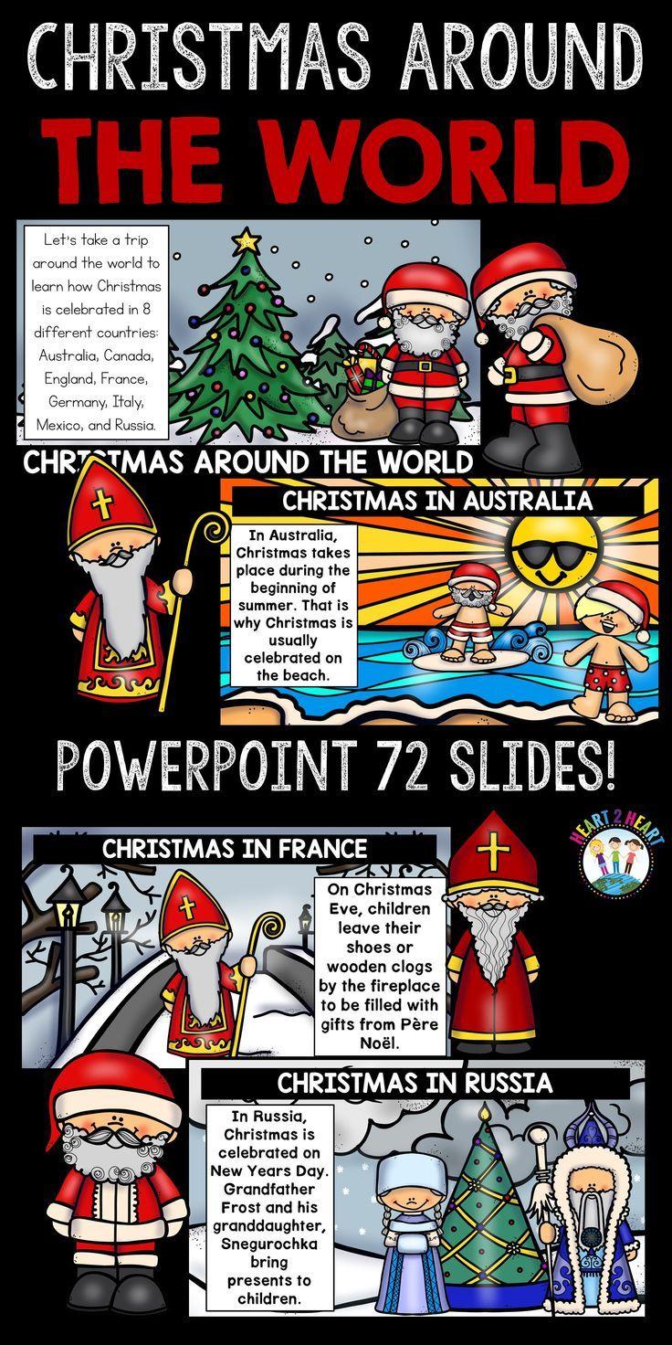 Christmas Around The World Powerpoint Christmas In Australia Kids Around The World Holidays Around The World