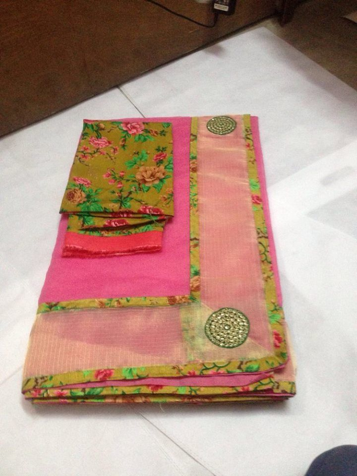 Light Weight kota Saree With floral Blouse | Buy Online Sarees | Elegant Fashion Wear