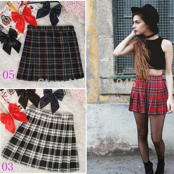 Cheap skirt yellow, Buy Quality skirt boy directly from China skirt animation Suppliers: 					Free Shipping New 2014 HOT SALE Preppy Style Japanese Style School Uniform Plaid Pleated Tartan S
