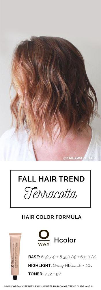[Free Fall Hair Color Ebook] Beautiful Fall Hair Color For Brunettes with Copper Highlights by Kaila Ward | Oway Hcolor Formula: 6.3, 6.35, 6.0 and 7.32 | Featured in Simply Organic Beauty 2016 Fall Hair Color Formula Ebook | #FallHair