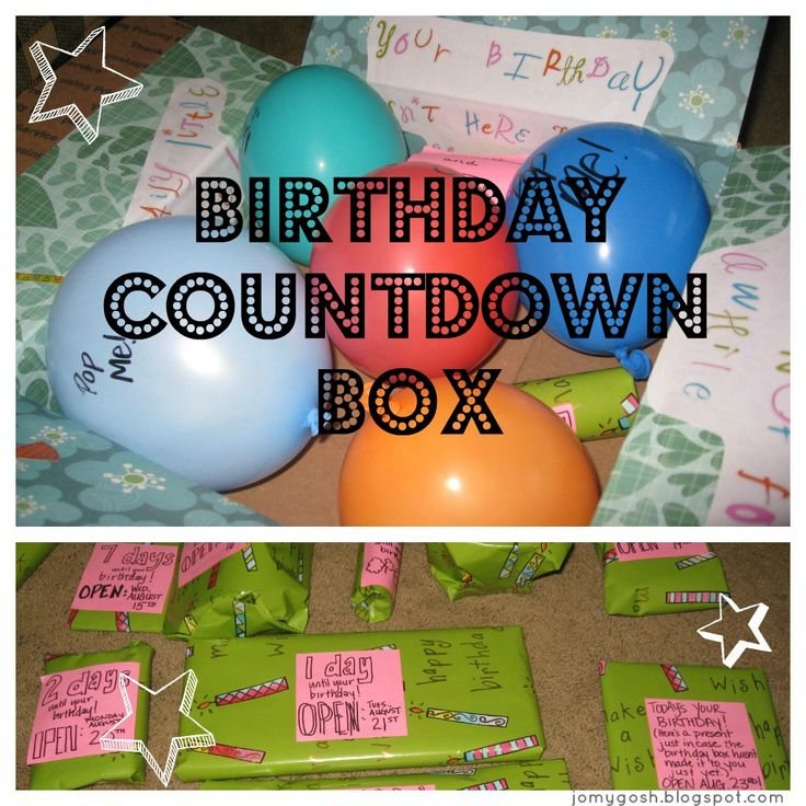 Create a countdown celebration to a birthday in a care package-- balloons, sweets, it's all here.