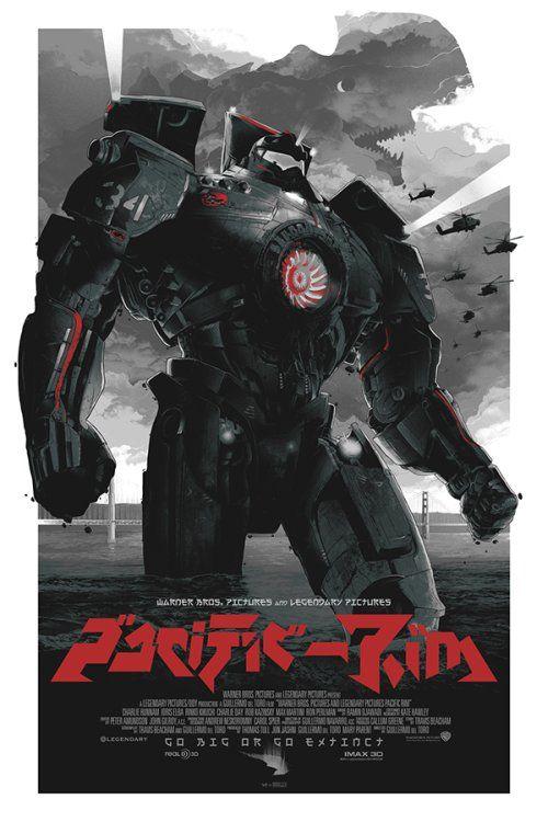 As ilustrações de cartazes de filmes de Grzegorz Domaradzki - Pacific Rim (Círculo de Fogo)