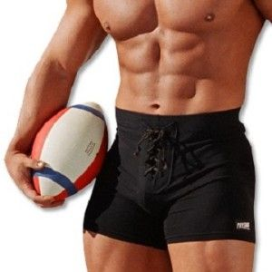 Original football style men's workout shorts, a Muscle Beach favorite for over 27 years!  NOTE: These are a mixture of old & new stock. Features our classic bodybuilder fit  with a smaller waist size.  Exclusive 4 inch inseam. Made in America. Cotton/Lycra. Styles vary, no coupons. Order now!