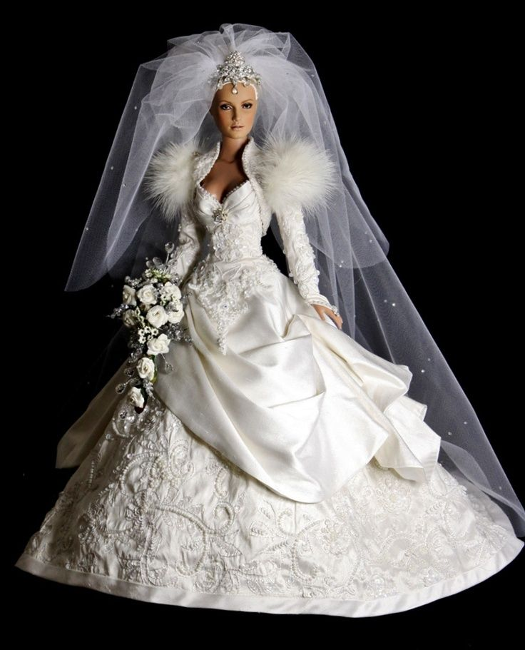 1000 images about 1980 39 s wedding dress on pinterest for Wedding dresses for barbie dolls