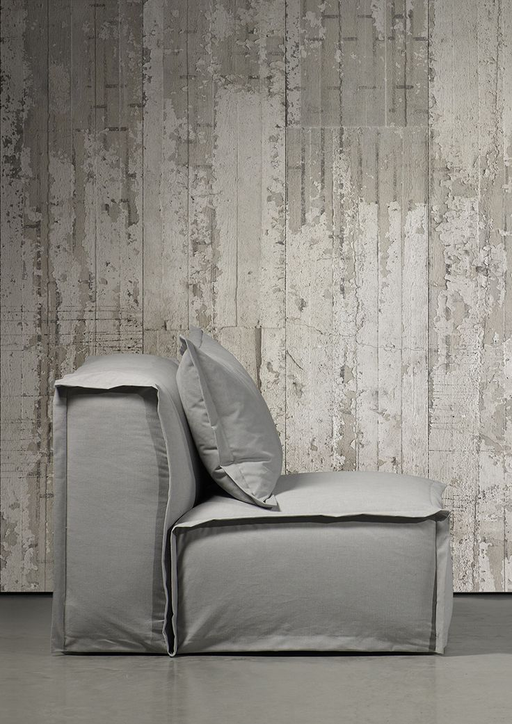 Concrete Wallpaper by Piet Boon & NLXL | Industrial concrete brought to elegant life with easy-to-apply and maintain wall coverings that fool the eye.
