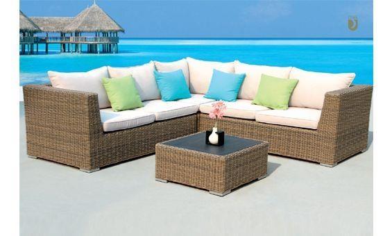 Conjunto de terraza o jard n compuesto por mesita y sof for Sofa rinconera jardin