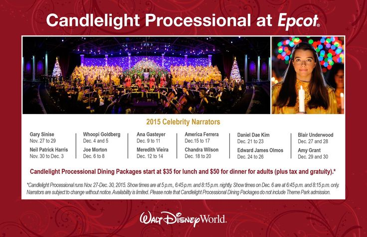 Additional Candlelight Processional Narrators Announced ...