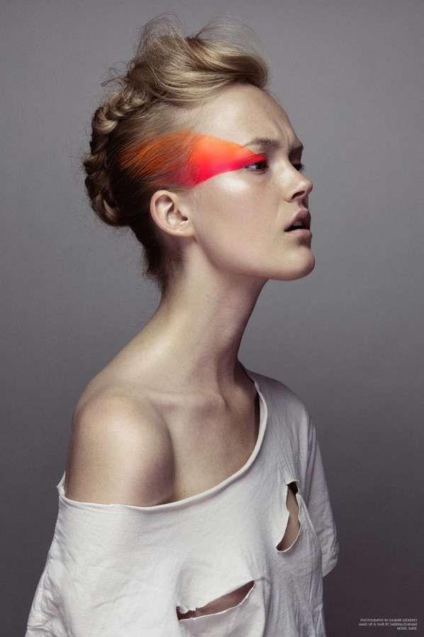 Orange & Pink Fluo Makeup