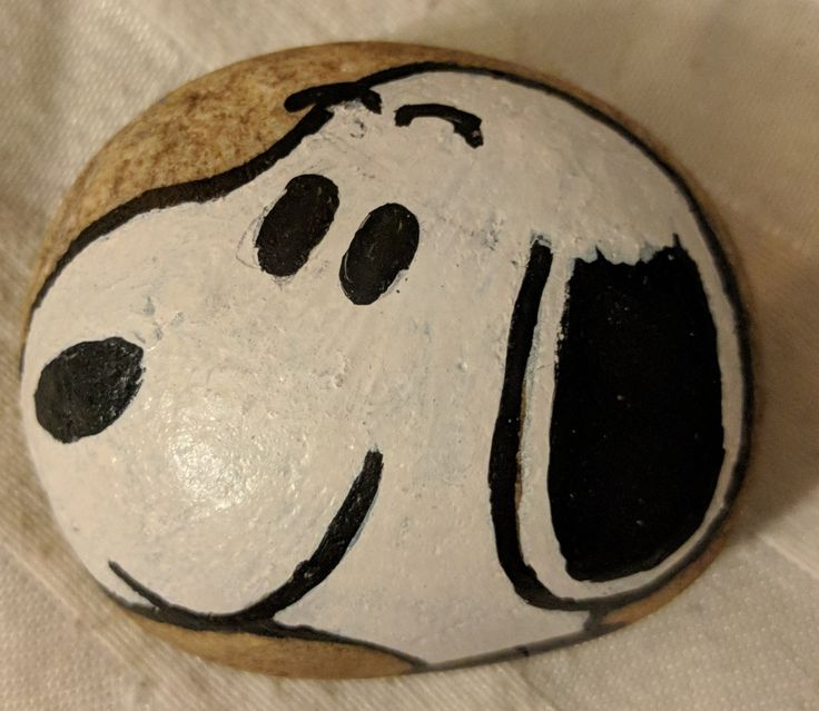 Snoopy by Charles Schulz. Peanuts. Dogs. Picture books. Painted rocks. Graphic novels. #DBRLRocks