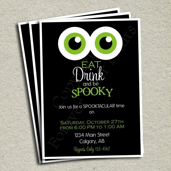 Halloween Party Invitation - DIY - Print Your Own. $15.00, via Etsy.