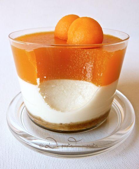Di pasta impasta: Coppette di cheesecake al melone (light... senza burro ne panna)