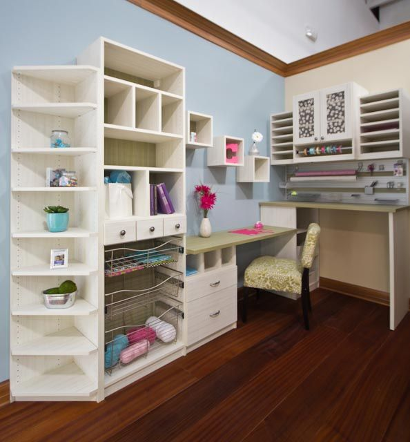 Craft In Comfort With A California Closets Custom Storage Solution