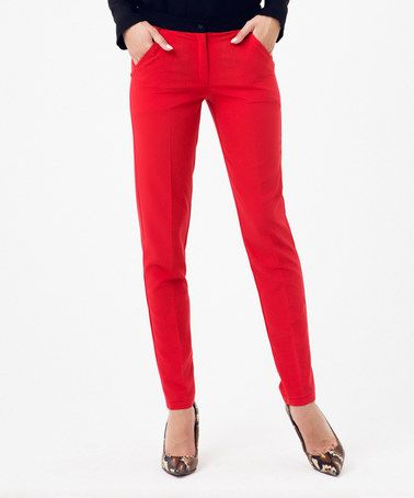Another great find on #zulily! Red Skinny Pants #zulilyfinds