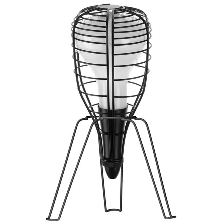 Lampe Baladeuse Noir CAGE ROCKET par Diesel with Foscarini - Lampe industriel