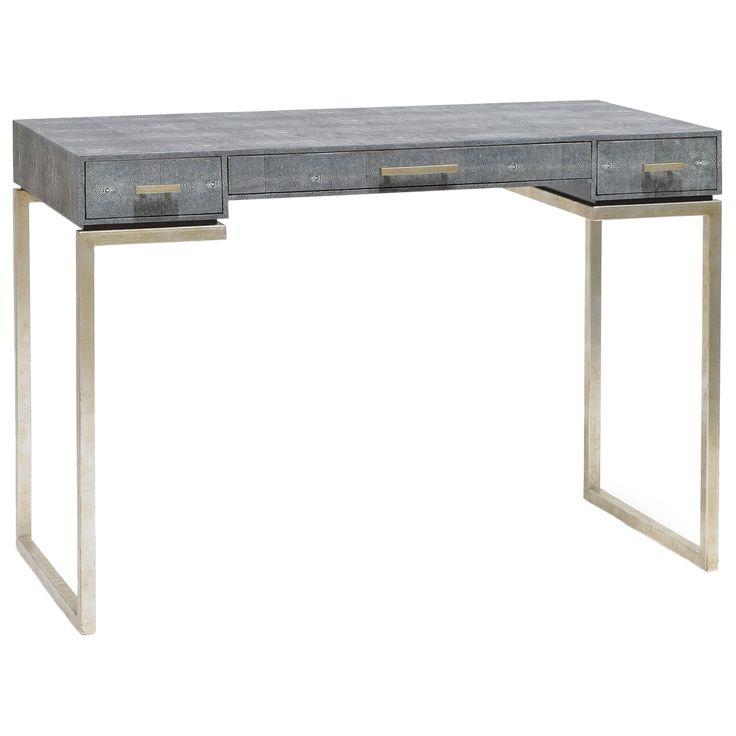 """Avalon Shagreen Desk •43.5""""W x 20.75""""D x 30""""H zinc door website"""
