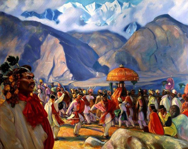 Святослав Рерих. Духовное искусство. Кулу. Осенний праздник Svetoslav Roerich