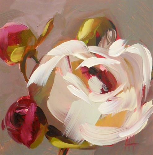"""Peonies"" - Original Fine Art for Sale - © Angela Moulton"