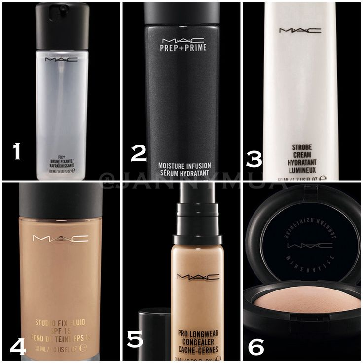 The products I use: 1. I spray Fix + on my bare face before anything goes on 2. 2 pumps of Prep & Prime Moisture Infusion applied after 3. A small squirt of Strobe Cream 4. 2 Pumps of Studio Fix Fluid, I mix the cream & foundation together 5. I use Prolong wear concealer for my under eye coverage. After everything I set I go over my entire face with 6. Mineralized Studio fix powder. #maccosmetics #makeup #cosmetics