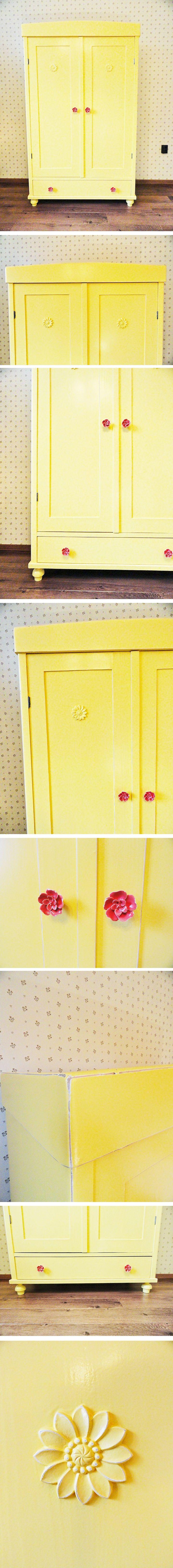 ST90 Vintázs ruhásszekrény - Vintage wardrobe - Flower power