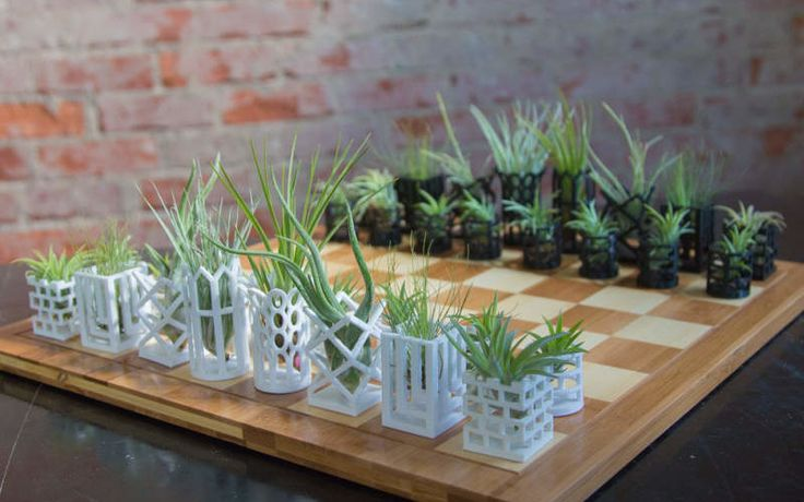 """It's pretty hard to be surprised by chess sets these days, as you will find hundreds of them that are really cool. From portable chess set with leather board to glowing Nixie chess set, we have featured a number of unique chess sets before, but this Air Plant Living chess set is awesome as it fuses nature with modern design. This handmade chess set comes with 3D printed pieces in shape of micro planters. The chess set functions as a lively art piece that helps in maintaining circulation of…"