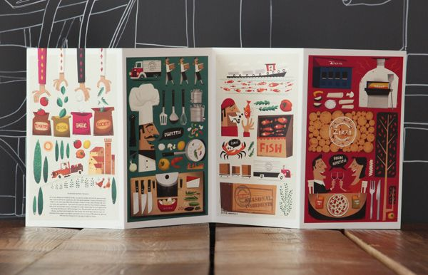 Zizzi: Spring menu '14 by Tobias Hall, via Behance