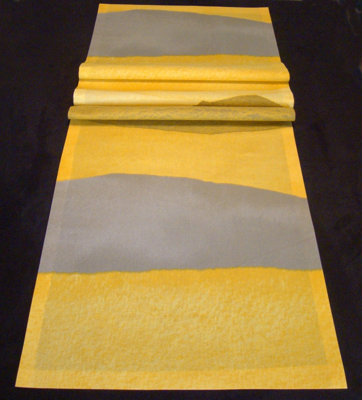 Marimekko Joiku Quot Yoik Quot Table Runner Yellow Gray Via Etsy