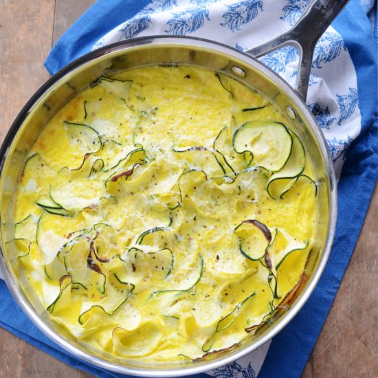 Spiralizer Summer Squash Frittata with Parmesan