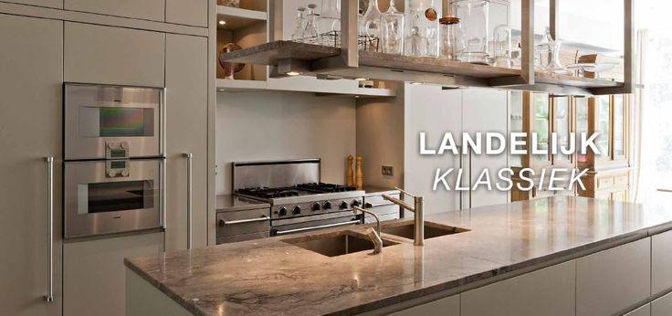 Maatwerk landelijk klassiek - keuken - leefkeuken - MDF gespoten in kleur - natuurstenen aanrechtbladen - wildrek - spoel eiland - Gaggenau oven en combi stoomoven - Viking fornuis - The Living Kitchen by Paul van de Kooi