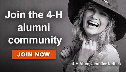 4-H Alum Jennifer Nettles Join the Alumni community
