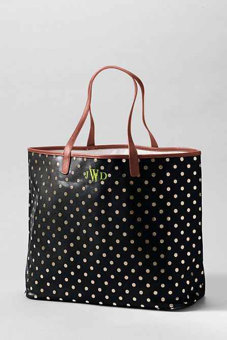 #GiftIdea for many on your list this year - Land's End Print Coated Canvas Large Shopper $68