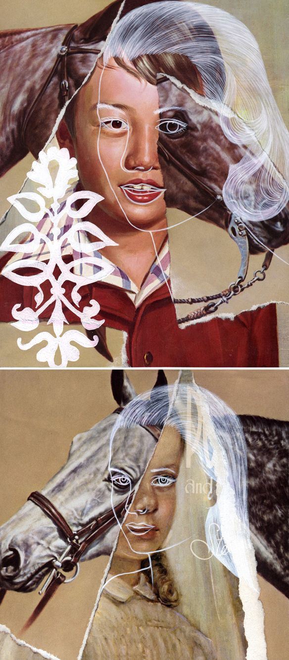 b.a. lampman - mixed media collage (that's kinda freaking me out... but i like it!)