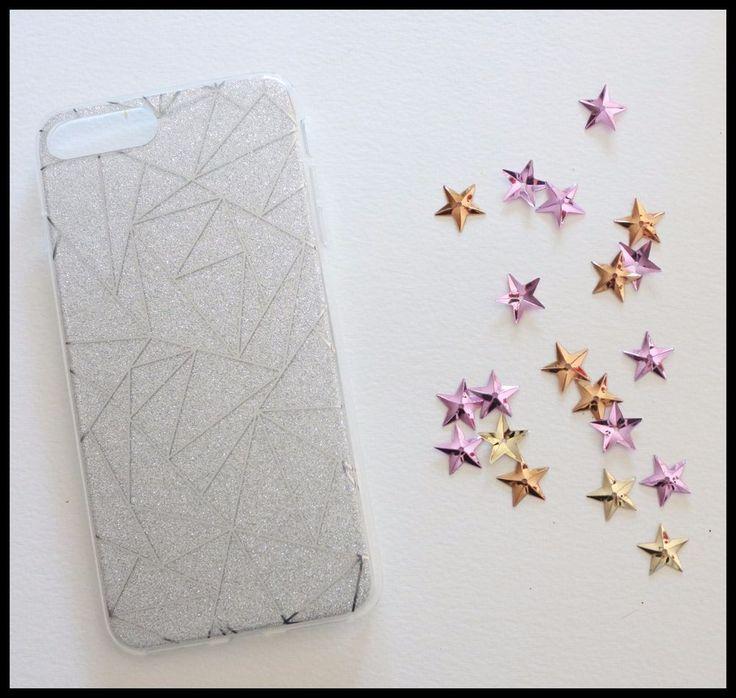 Coque rigide gris argent paillette triangle iPhone 7 + 7 Plus glitte rgirly