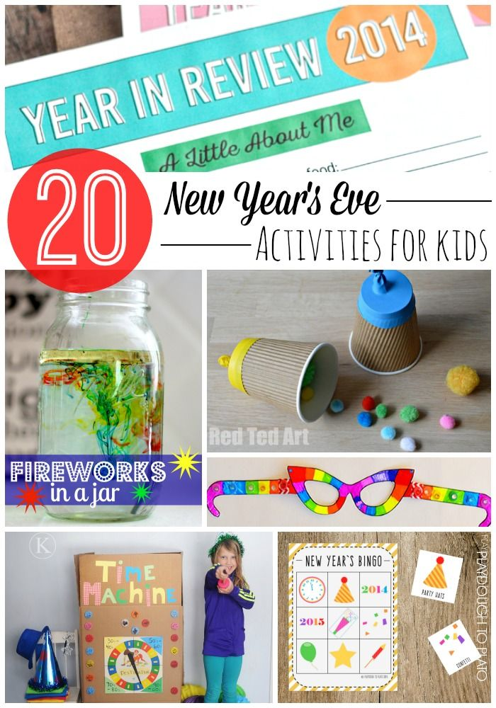 20 Must-Try New Year's Eve Activities for Kids. Glow in the dark slime, year in review checklist, pom pom poppers and tons more.{Playdough to Plato}