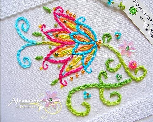 beautiful floral embroidery. Galeria de Bordados ♥ « Delicale