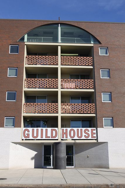 Guild House, Philadelphia, PA. Architects: Venturi and Rauch with Cope and Lippincott. Analyzed in Learning from Las Vegas, by Robert Venturi, Denise Scott Brown and Steven Izenour.
