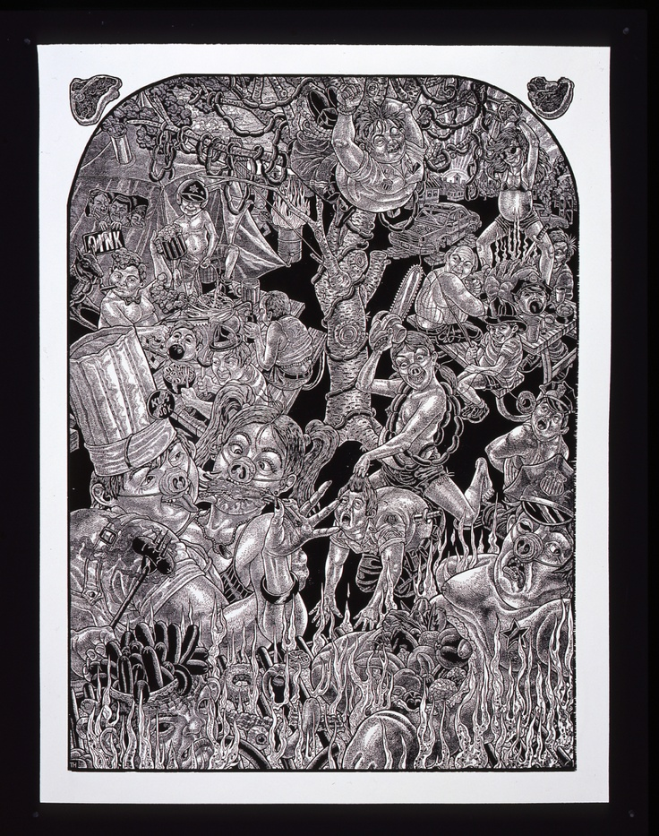 Pork Chop Suey OINKTOBERFEST , 2007 by Tom Huck Print