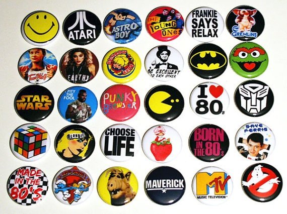 80s buttons for your denim jacket