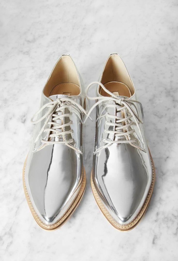 Metallic Oxfords van Imitatieleer - Dames schoenen en laarzen | shop online | Forever 21 - 2000157601 - Forever 21 EU Nederlands