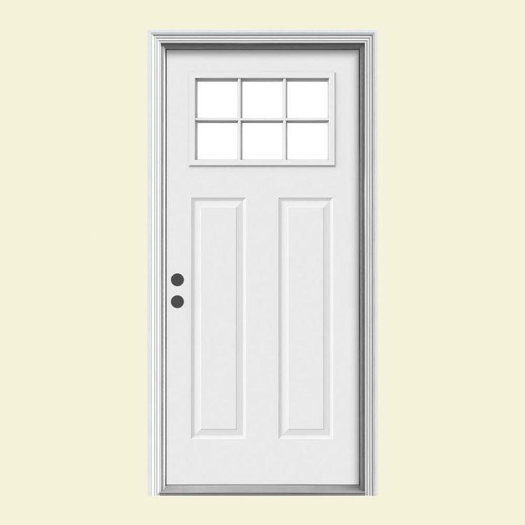 Home Depot Doors Exterior Steel: Door. Premium Craftsman 6 Lite Primed Steel Entry Door